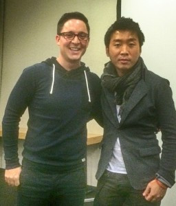 United we stand: A designer-developer dream team: @aschndr and @MengTo at a designcode.io workshop, late 2014